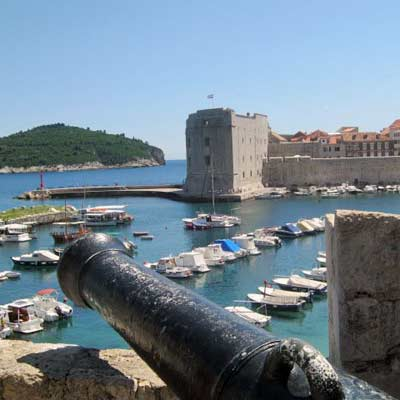 The harbour and old town of Dubrovnik