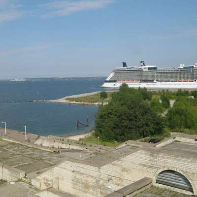 The ferry terminal in Tallinn